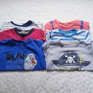 Toddler tee shirt top bundle Disney frozen train